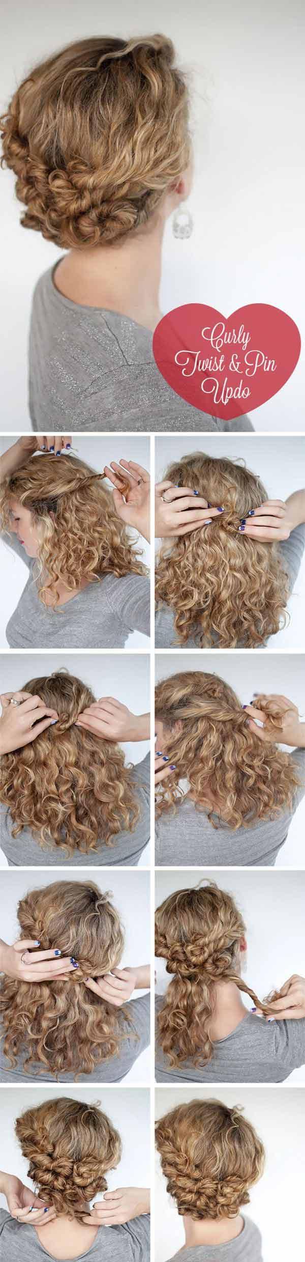 Twist and Pin Short Hair