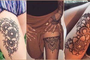 Amazing Henna Mehndi Tattoo Designs For Thigh