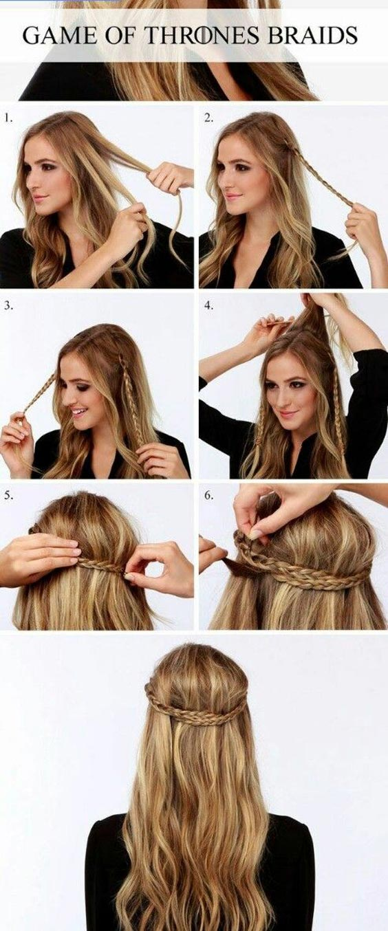 Easy Yet Sassy GOT Braid Hairstyle