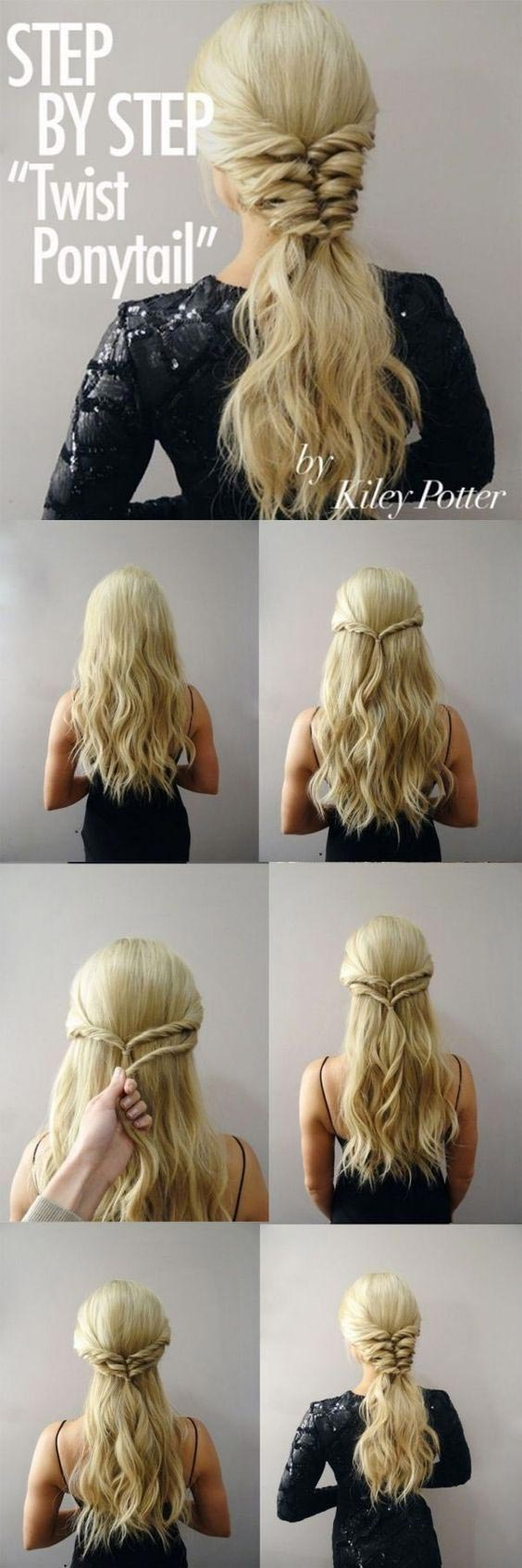 Try A Different Look With The Twist Pony Tail