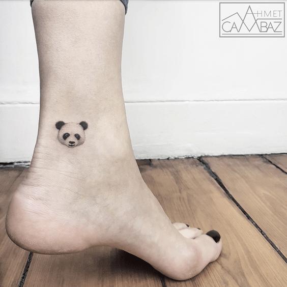 Tattoo of a Panda face