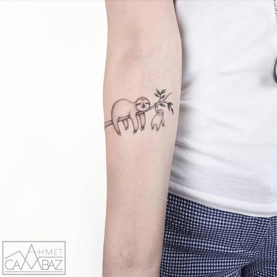 Tattoo of sloth bears