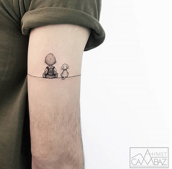 Tattoo of the peaceful moment