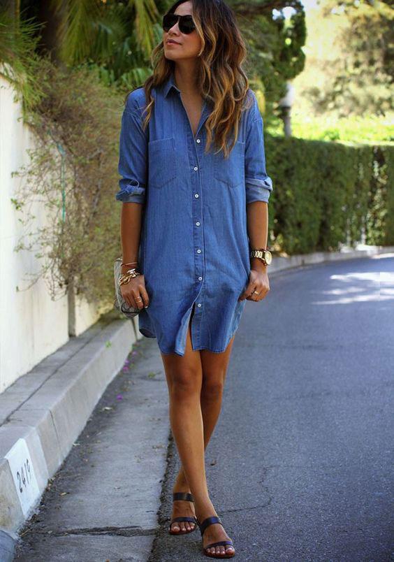 denim shirt dress summer trends