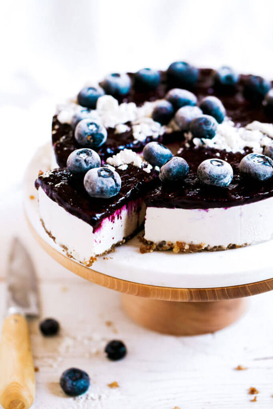 Vegan Paleo Blueberry Cheesecake yogurt dessert recipes
