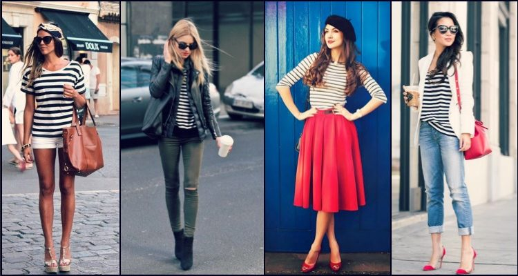 ways to wear striped tshirt