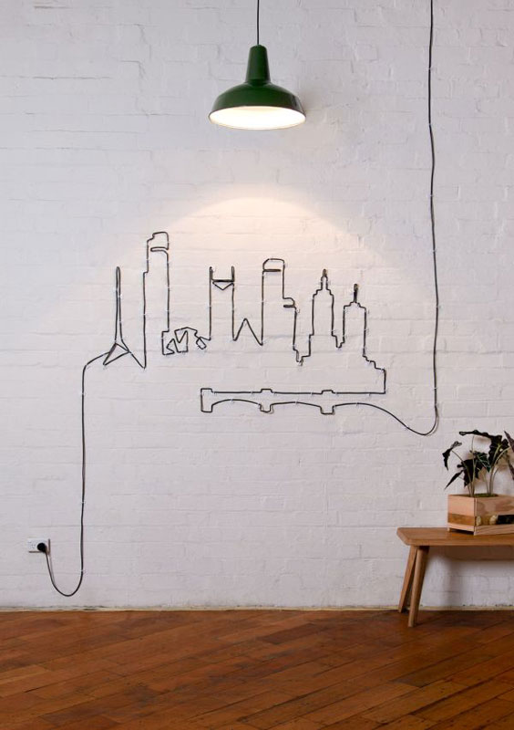cords-wall-art-design home decor ideas
