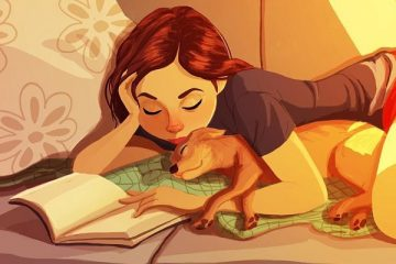 dog lover Yaoyao van ma as illustrations