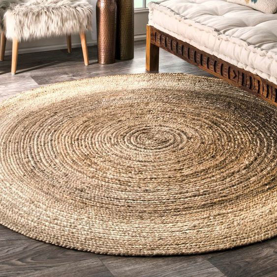 huge-jute-rug home decor ideas