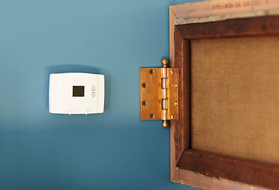 stylish-solution-to-hide-a-thermostat1 home decor ideas