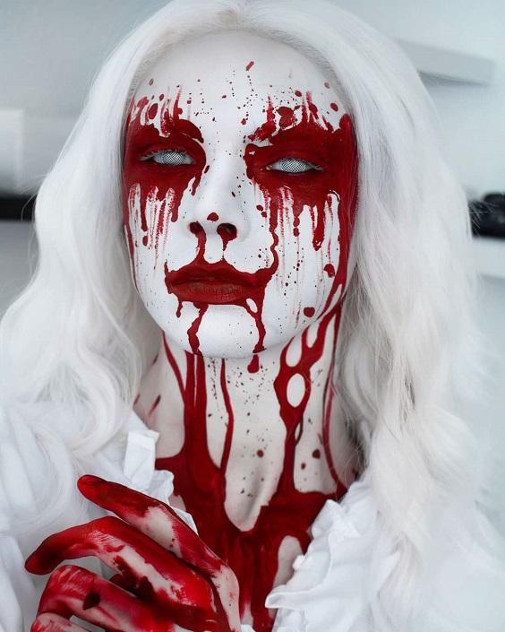 Queen Of Bleeding Hearts halloween makeup ideas