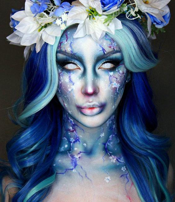 Winter Blossom halloween makeup ideas