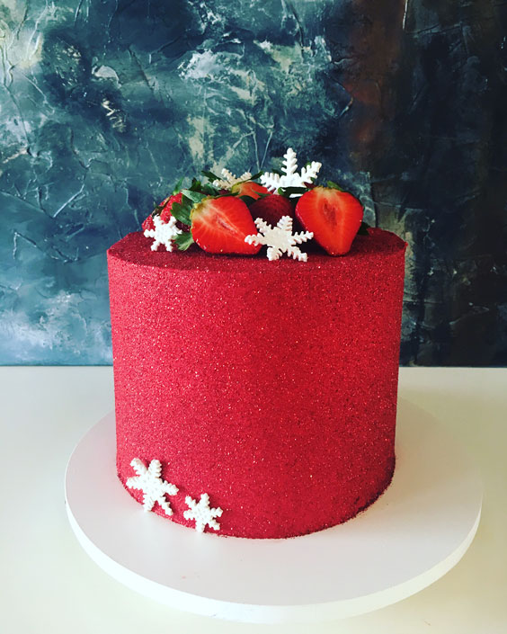 Elegant RED Christmas Cake