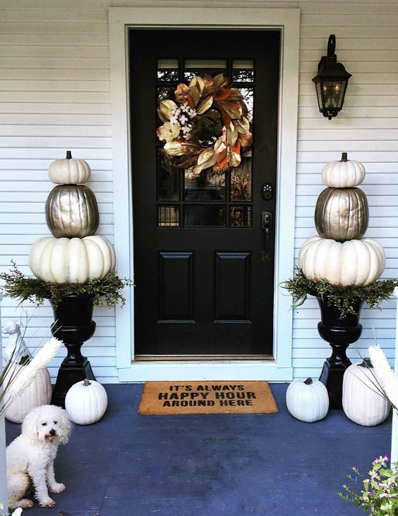 Front door decor thanksgiving decoration ideas