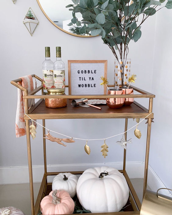 thanksgiving decoration ideas Get your bar cart ready