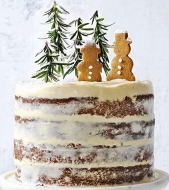 Simply Snowy Christmas Cake