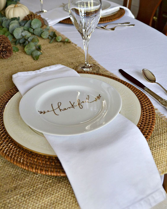 Thankful plates