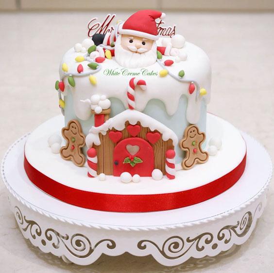 The White Santa Cake