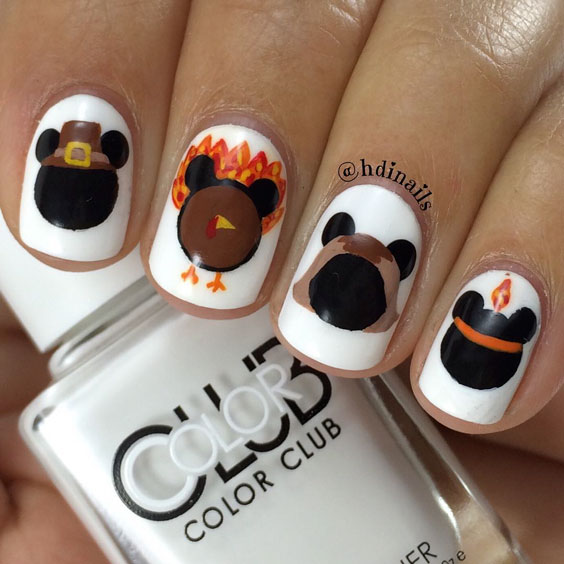 creative thanksgiving nail art design