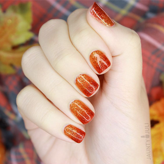 gratefully gradient nail art on thanksgiving
