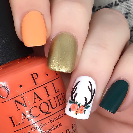 the fall inspired nail art
