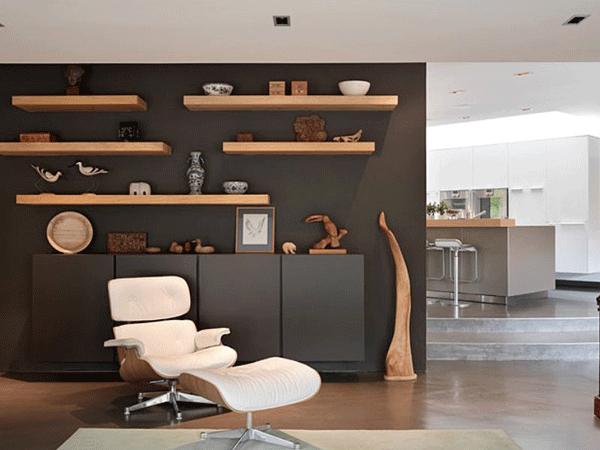 Floating Shelf Simple Ways-to-Turn-Your-Living-Room intoa Minimalist Paradise