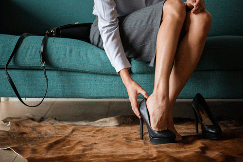 high heels business woman confidence
