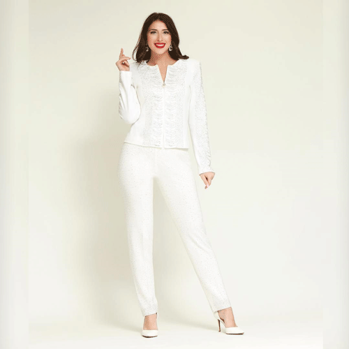 Casual white pant church dress