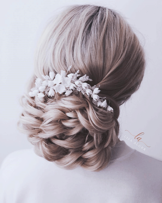 Flower bun hairstyle diffrent flower hairstyles