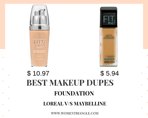 Foundation Loreal true match vs Maybelline Fit me