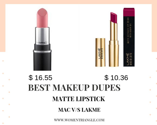 Lipstick makeup dupes