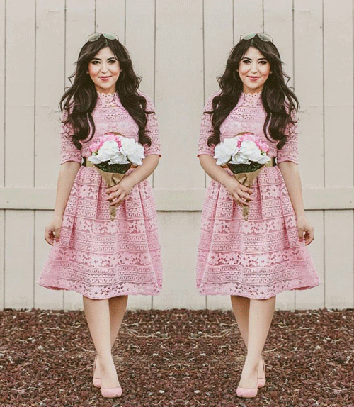 baby Pink church Dress