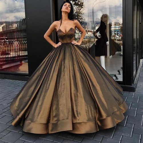 ball gown evening wedding dress