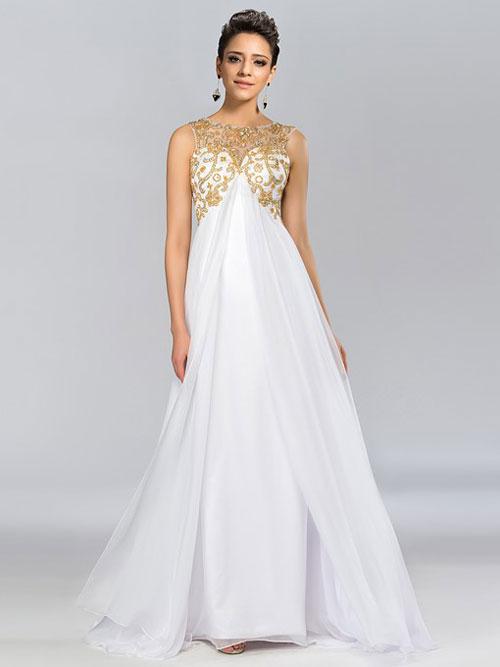empire line-gown evening dress