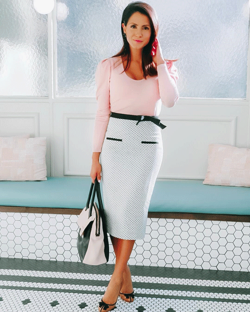pencil skirt church dress