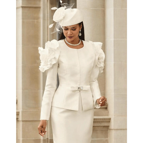 white church suit