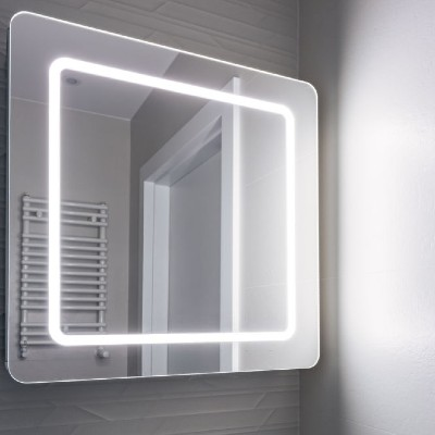 LED Lighted Mirror vs. Mirror with Yellow Light Bulbs