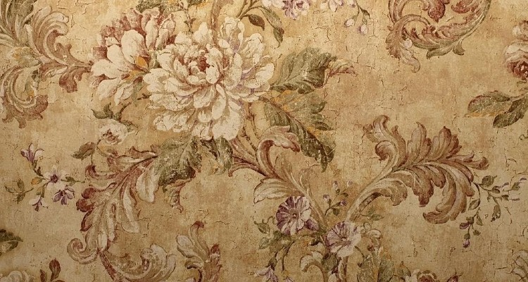 Add a floral yet classic wallpaper